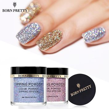 BORN PRETTY Holographic Dip Nail Powder Gradient Dipping Glitter for Nails