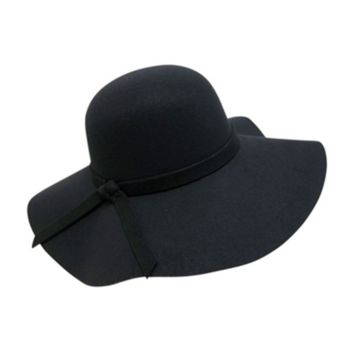 Mechaly Women's Floppy Black Vegan Hat