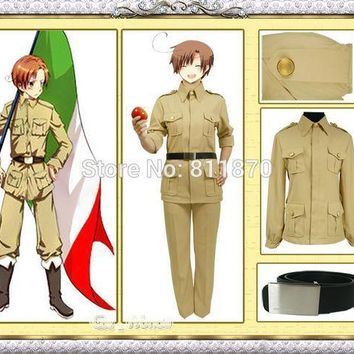 Axis Powers Hetalia Aph Cosplay South Italy Unisex Military Uniform Sailor Suits Evening Dress