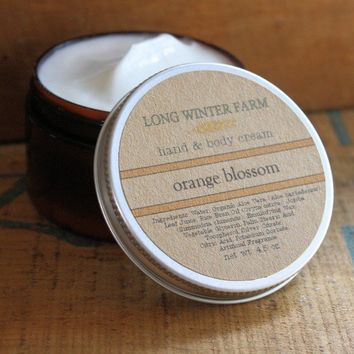 Orange Blossom Skin Cream with Organic Aloe by longwinterfarm