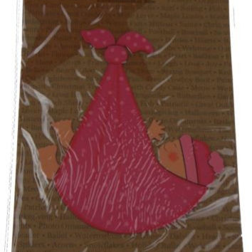 Lot 3 Embellish Your Story Roeda Magnet Pink Baby Girl Stork Bundle Hand Painted