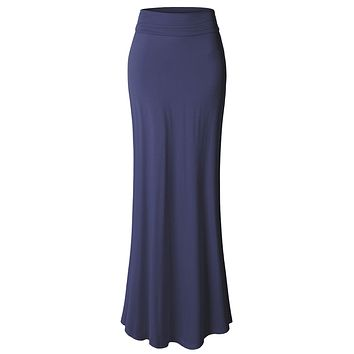 Floor Length Maxi Skirt With Stretch
