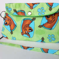 Scooby Doo Purse / Lime Green Clutch with Chain Strap / Scooby Bag / Mystery Incorporated / Cartoon Dog / Scooby-Doo