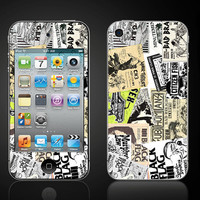 Punk Rock Flyers Old School 80's   iPod Touch 4 4th Skin Vinyl Wrap by ItsASkin