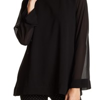 Catherine Catherine Malandrino | Long Sleeve Solid Blouse | Nordstrom Rack