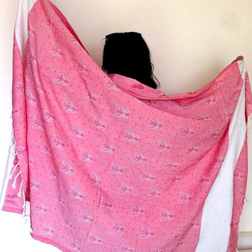 Pure Cotton Shawl Beach/Bath Towel Shoulder Wrap Pashmina Oversized Scarf/Shawl Baby Blanket Sofa Throw Table Cloth Gift Ideas