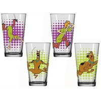Scooby-Doo Glass Tumbler 4-Pack - Classic Imports - Scooby-Doo - Barware at Entertainment Earth
