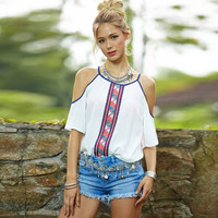 Women Boho Chiffon Tank Top