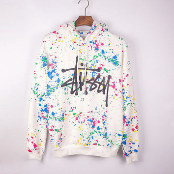 Trendy Stussy Unisex Pullovers Hoodies Sweaters + Nice Free Necklace Gift