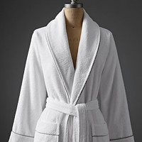 Hotel Satin Stitch Turkish Cotton Bath Robe