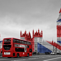 Red London Bus and Big Ben Art Print by Alice Gosling