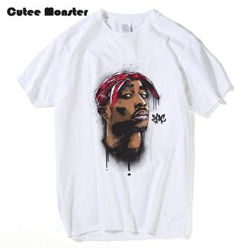 African American rapper T shirt men 2017 summer Tupac Makaveli 2pac t-shirt fashion hip hop rock punk short sleeve shirts
