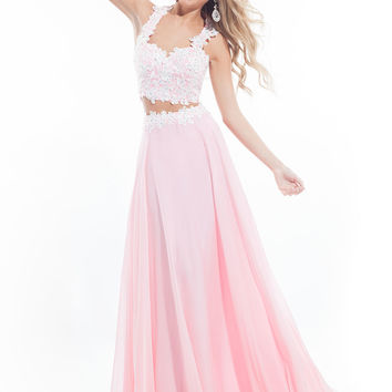 Razor Back Lace A-line Prom Dress By Rachel Allan 6832