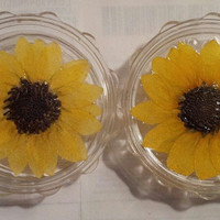 Real sunflower herb grinder by sugarydesigns