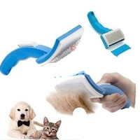 Pet Dog Cat Self Grooming Hair Comb Brush + Bonus Pet Trimmer Attachment = 1930056004