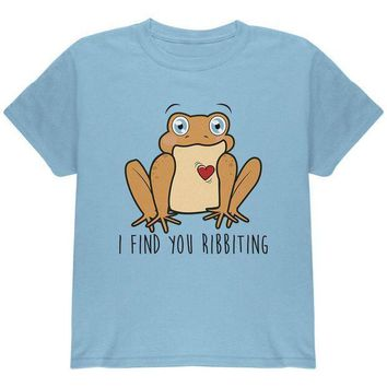 CREYCY8 Toad I Find You Riveting Funny Pun Valentine's Day Youth T Shirt