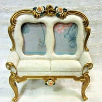 Photo Frame Victorian Double Vintage Pictures Sofa Couch Cream colored White blm