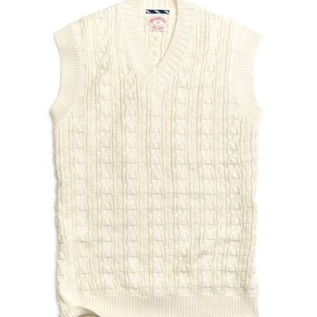 Men's Cable Knit Cricket Sweater Vest