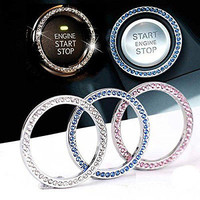 Auto Accessories Swarovski Crystal Engine Push Start Car Decal Accessory Vehicle | eBay