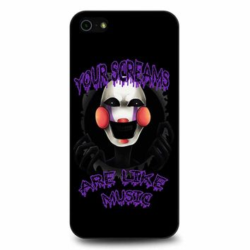 Five Nights At Freddy S The Marionette iPhone 5/5s/SE Case