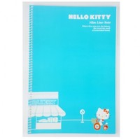 Hello Kitty Slim Line College Ruled Spiral Notebook : Blue $2.99