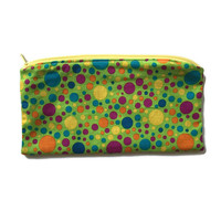 Polka Dot Make Up Bag, Cloth Cosmetic Case, Back to School