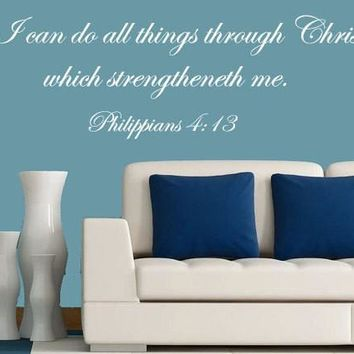 Bible Verse Art of Philippians 4:13 I Can Do All Things Through Christ