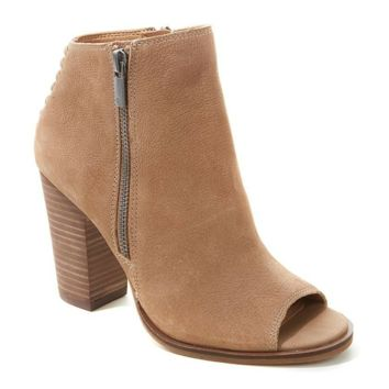 Tan Peep Toe Booties - Lucky Brand