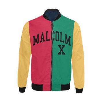 Malcolm X, Color Block - Lightweight Bomber Jacket - Big & Tall