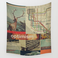 Optimism178 Wall Tapestry by Frank Moth