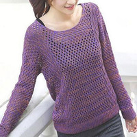 Long Sleeve Knitted Pullover Sweater