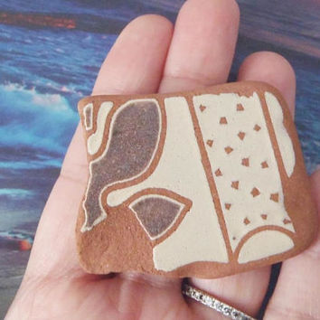sea pottery italian beach pottery mosaic tyle beach supplies terracotta brown surfer for mosaics sea finds destash ceramic lasoffittadiste