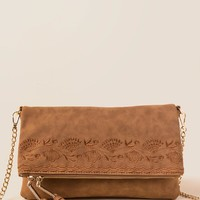 Alyssa Floral Embroidered Crossbody Clutch