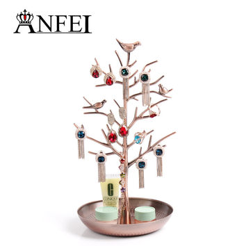 Free shipping Tree retro earrings ring jewelry rack to hang act the role ofing is tasted Receive a display shelf