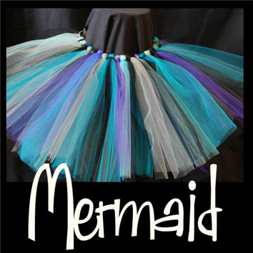 MERMAID - baby - handmade tutu skirts - first birthday tutu - tutus - tutu dress - costume tutu - shimmery tutu - glitter tutus - party tutu