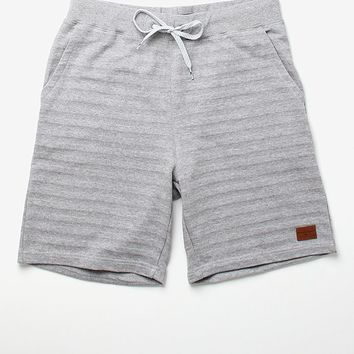 Modern Amusement Shadow Stripe Shorts - Mens Shorts - Grey