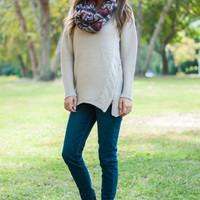 Make My Day Sweater, Taupe