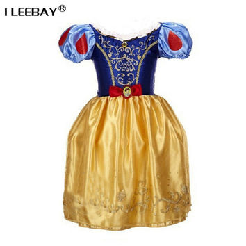 Sofia Cinderella Rapunzel Belle Snow White Girl Kid Short Sleeve Princess Dress Up Teenage Halloween Party Dress Cosplay Costume
