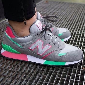 new balance 446 grey green red