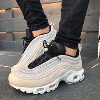 Nike Air Max Plus 97 Pink air cushion leisure running shoes
