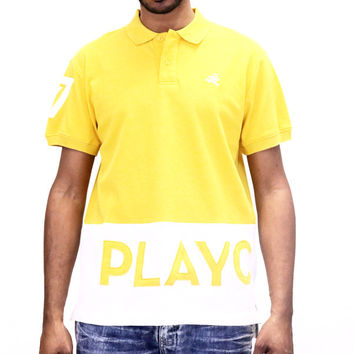 Play Cloths Spellout Polo Shirt - Old Gold