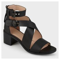 Women's Journee Collection Soraya Double Ankle Strap Stacked Wood Heel Sandals