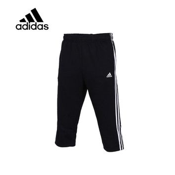Original New Arrival Official Adidas Men Trainning Exercise Running Shorts Black Leisure Sportswear Flexible Breathable CG0770