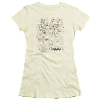 Grimm - Wesen Sketches Short Sleeve Junior Sheer