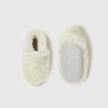 Shearling Baby Booties - Ivory
