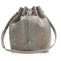 Semi Grey Python Large Drawstring – Hunting Season