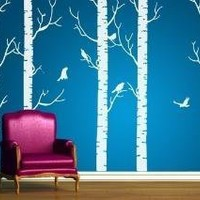 Vinyl Wall Art Decal  Birch Forest Decals by walldecors on Etsy