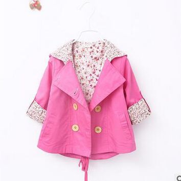 kids cardigan spring girl coat baby coats 0-2 months high quality fashion baby Autumn fall with a hood jacket cute