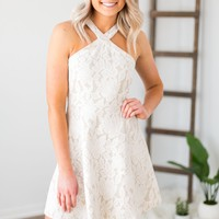 Lady Of The Day Dress- Off White