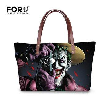 Batman Dark Knight gift Christmas FORUDESIGNS Cool Batman The Killing Joke Printing Women Handbags Suicide-Squad-Movie-Characters Top Handle Bags Funny Women Bags AT_71_6